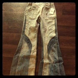 Free People Tidal Wave Flared Jeans NWT 25